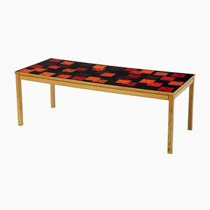 Mesa de centro vintage de teca y esmalte de David Rosen and P. Torneman para Nk