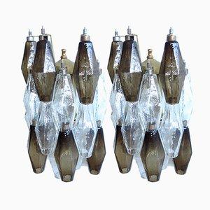 Apliques italianos de cristal de Murano, 1977. Juego de 2