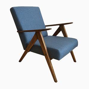 Mid-Century Armchair in Blue
