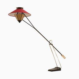 Lámpara de pie a contrapeso Mid-Century de Carl Aubock