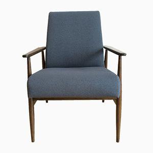 Mid-Century Modern Navy Blue Armchair by Hanna Lis, 1960s