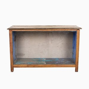 Vintage Glazed Haberdashery Shop Counter Glass Cabinet
