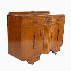 Art Deco Golden Oak Credenza