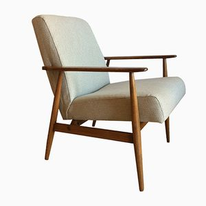 Mid-Century Modern Sapin Beige Lounge Chair by Hanna Lis, 1960s
