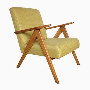 Mid-Century Modern Armchair in Sapin Mustard Upholstery