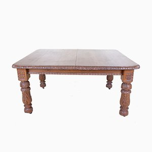 Victorian Oak Dining Table with Joseph Fitter Extension