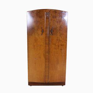 Art Deco Compactum Kleiderschrank aus Nussholz