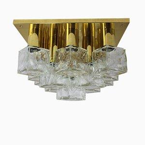 Lámpara de techo o pared Ice Cube de Kalmar, años 60