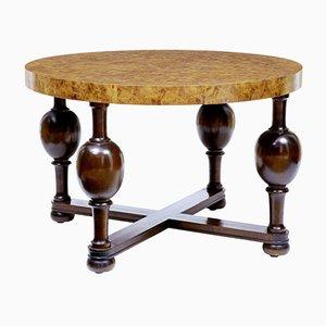 Art Deco Swedish Burr Elm Coffee Table