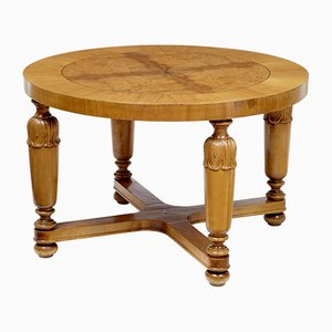Art Deco Swedish Birch and Elm Coffee Table