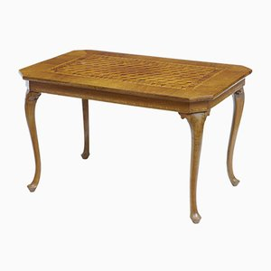 Vintage Italian Walnut Sorrento Parquetry Inlaid Side Table