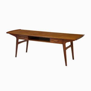 Scandinavian Solid Teak Coffee Table, 1960s