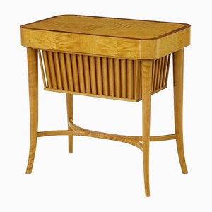 Swedish Birch Sewing Table from Bodafors, 1950s