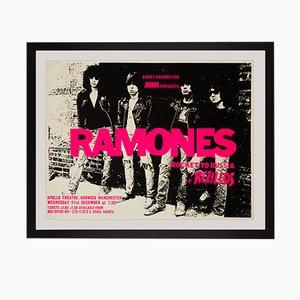 Poster del concerto dei Ramones, Regno Unito, 1977