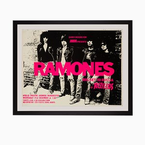 Póster del concierto de The Ramones en Reino Unido, 1977