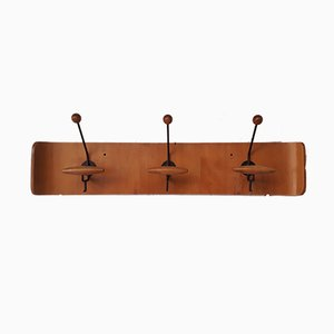 Italian Wood & Metal Coat Rack, 1950s