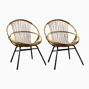 Vintage Rattan Chairs, Set of 2