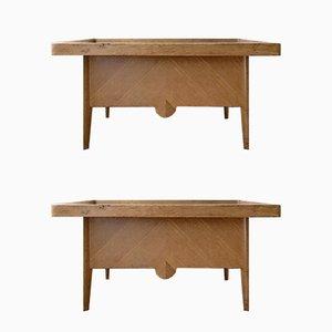 Vintage Weaver Tables, Set of 2