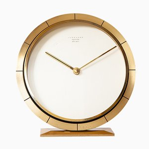 Brass Table Clock from Junghans, 1960s