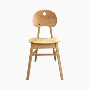 Vintage Beistellstuhl aus Buche