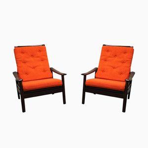 Vintage Scandinavian Lounge Chairs, 1960s, Set of 2