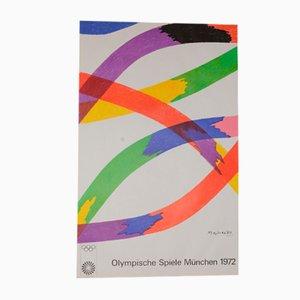 Olympische Spiele München Poster von Piero Dorazio für Kroll Siedbrook, 1972