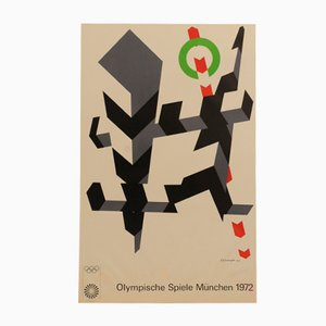 Poster delle Olimpiadi di Monaco di Allan D'Arcangelo, 1972