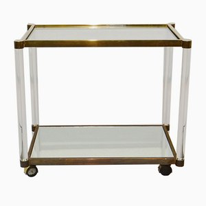 Lucite and Copper Bar Trolley, 1970s