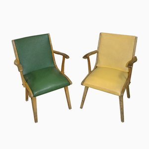 Kitchen Arm Chairs, 1950s, Set of 2
