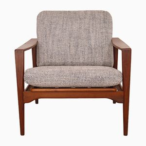 Vintage Danish Lounge Chair by Illum Wikkelso