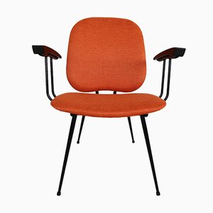 Orange Bakelite and Metal Chair, 1950s