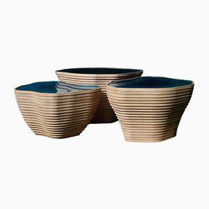 Skulpturale Couchtische von Julien Lagueste, 3er Set
