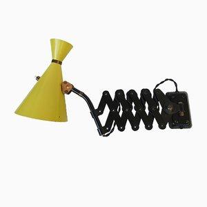Lámpara acordeón negra de Helo Leuchten, años 60