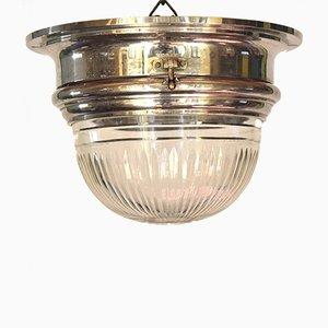 Lampada da soffitto antica da metrotranvia viennese di Otto Wagner