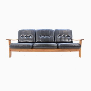 Mid-Century Scandinavian Leather Sofa, 1960s