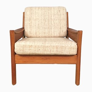 Danish Teak and Wool Easy Chair from Dyrlund, 1960s