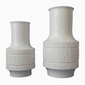 Vases Arcta Vintage en Porcelaine par Richard Scharrer pour Thomas, 1960s, Set de 2
