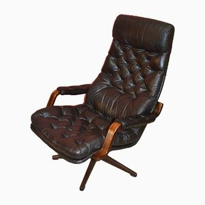 Leather Lounge Chair from Göte Möbler, 1960s