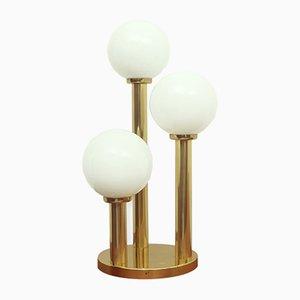 Opaline & Brass Table Lamp, 1970s