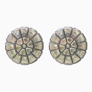 Iron & Glass Sconce from Limburg, 1960s, Set of 2