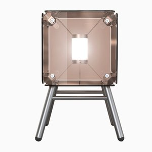 Hyperqube 1-Module Glass Floor Lamp with Dimmable LED from Felix Monza