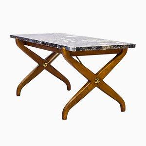 Tavolino da caffè in marmo di David Rosén per Nordiska Kompaniet, anni '40