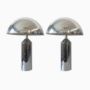 Grandes Lampes de Bureau Modernes Mid-Century de WKR, 1970s, Set of 2