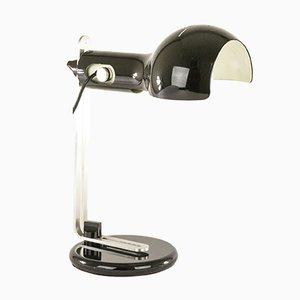 Lampe de Bureau Flash Noire par Joe Colombo pour O-Luce, 1970s