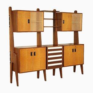 Italian Bookcase in Teak & Formica, 1960s