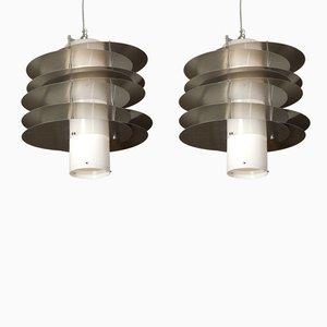 Lámparas de techo italianas, años 70