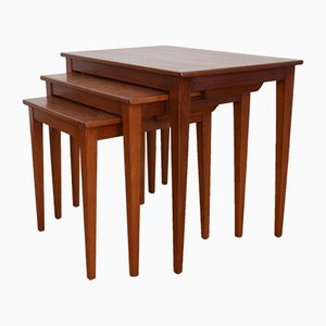 Teak Stacking Tables from Kvalitet Form Funktion, 1960s