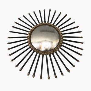 Vintage Spiegel in Sonnen-Optik mit Metallrahmen