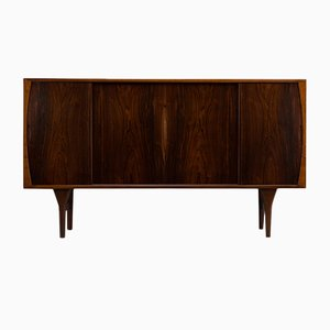 Danish Mid-Century High Sideboard in Dark Rosewood by Henning Kjaernulf for Bruno Hansen, 1960s