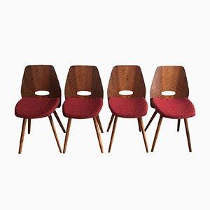 Esszimmerstühle von Frantisek Jirak für Tatra, 1960er, 4er Set